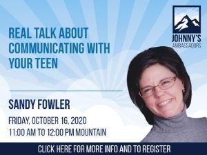 Sandy Fowler speaking at parent webinar